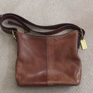 Vintage coach leather bag purse brown E04s-9328